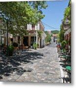 Greek Village Plaza Metal Print