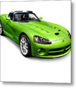 Green 2008 Dodge Viper Srt10 Roadster Metal Print