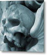Grey Death Metal Print