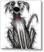 Grumpy Dog Metal Print