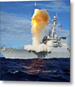 Guided Missile Destroyer Uss Hopper Metal Print