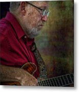Guitar Picker In The Park On Sunday Metal Print