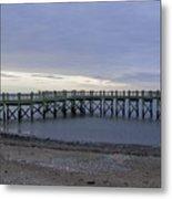Gulf Beach Pier Metal Print