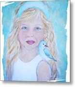 Gwyneth Little Earth Angel Of Happiness Metal Print by The Art With A Heart By Charlotte Phillips