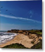 Half Moon Bay Golf Course - California Metal Print