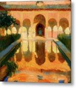 Hall Of The Ambassadors -  Alhambra Granada Metal Print