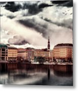 Hamburg At Dusk Metal Print