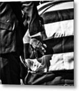 Hand In Flag Metal Print