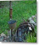 Hand Pump In The Spring Metal Print