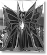 Hanging Butterfly Metal Print