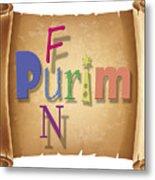 Happy Joyous Purim  Metal Print