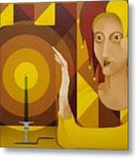 Harlequin With Candle   2004 Metal Print