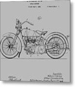 Harley Davidson Motorcycle Patent 1925 Metal Print