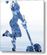 Harley Quinn-blue Metal Print