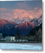Harrison Hot Springs And Mount Cheam Range Metal Print