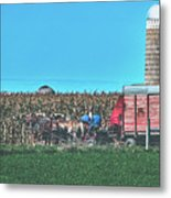 Harvest In Amish Country - Elkhart County, Indiana Metal Print