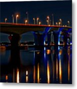 Hathaway Bridge At Night Metal Print