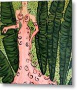 Haute Couture Flamingo Metal Print