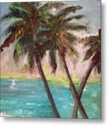 Hawaiian Palms Metal Print
