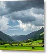 Hay Barns In Oberinntal, Pettneu Am Arlberg Metal Print