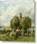 Haymaking Metal Print