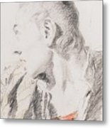 Head Of A Youth Turned To The Left Metal Print