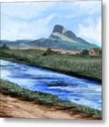 Heart Mountain And The Canal Metal Print