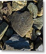 Heart Shaped Stone Loch Fyne  Metal Print