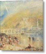 Heidelberg With A Rainbow Metal Print