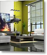 Helicopter Art Metal Print