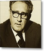 Henry Kissinger 1976 Metal Print
