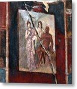 Herculaneum Fresco Metal Print