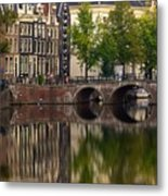Herengracht Canal. Amsterdam. Netherlands. Europe Metal Print