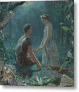 Hermia And Lysander Metal Print