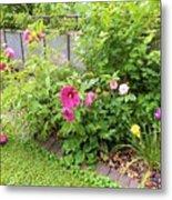Hibiscus In The Garden Metal Print