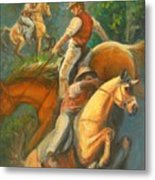 High Country Riding Metal Print