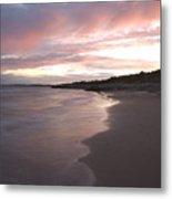 Highcliffe Beach At Sunset Metal Print