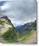 Highline Trail Overlooking Going To The Sun Road - Glacier National Park Metal Print