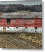 Hill Barn Metal Print