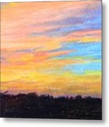 Hill Country Sunrise Metal Print