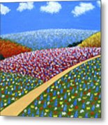Hills Of Flowers Metal Print