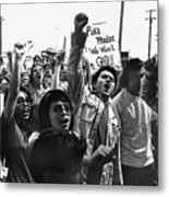 Hispanic Anti-viet Nam War Rally Tucson Arizona 1971 Metal Print
