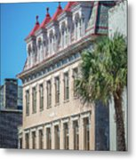 Historic Charleston South Carolina Downtown And Architetural Det Metal Print