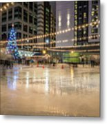 Holiday Scenes In Uptown Charlotte North Carolina Metal Print