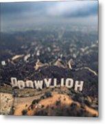 Hollywood Sign Metal Print