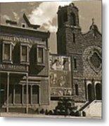 Holy Angel's Catholic Church Rectory  Belles Indian Saloon   The Great White Hope Set Globe Az 1969 Metal Print
