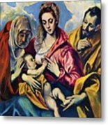 Holy Family With St Anne Metal Print