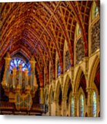 Holy Name Organ Loft Metal Print