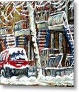 Achetez Les Meilleurs Peintures De Scenes De Montreal En Hiver Winter Scene Paintings Metal Print