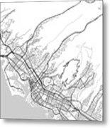 Honolulu Hawaii Usa Light Map Metal Print